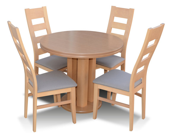 Klassischer Rund Runder Tisch Holz Design Esszimmer Tische 4 .