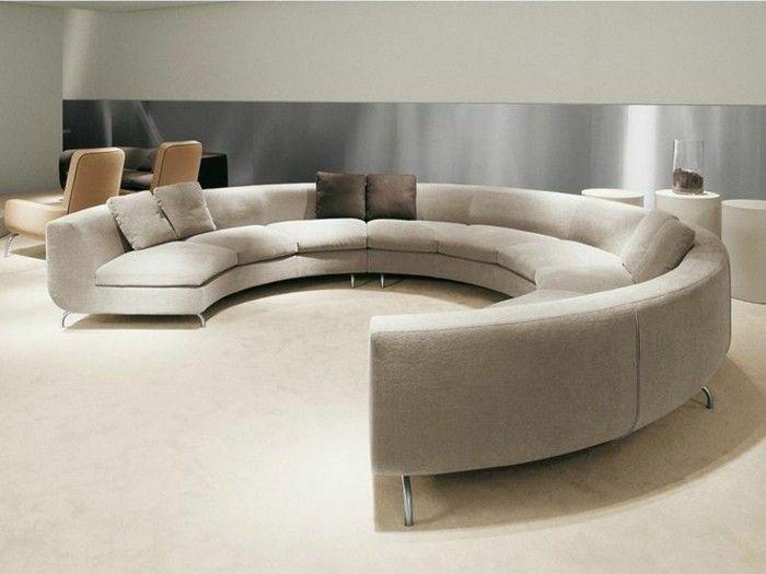 Rundes Sofa im Wohnbereich - 43 Ideen für bequeme und funktionale .