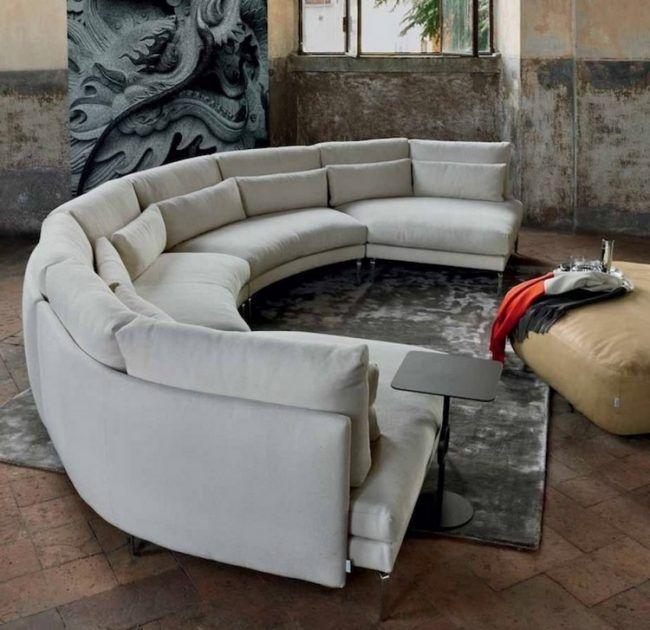 Runde Sofas modern in Szene setzen – 50 Beispiele   Rundes sofa .