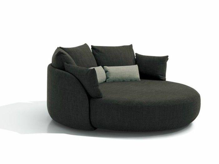 Rundes Sofa im Wohnbereich – 43 Ideen für bequeme und funktionale .