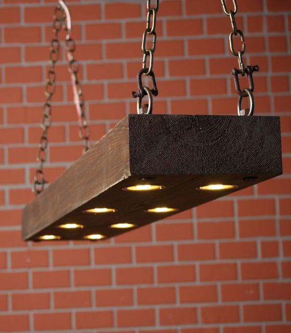 Rustikale Beleuchtung Altholz Holz Licht Esszimmer Licht | Et