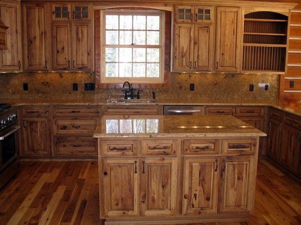 Rustikale Hickory-Küchenschränke – Ideen für Küchenmöbel aus .