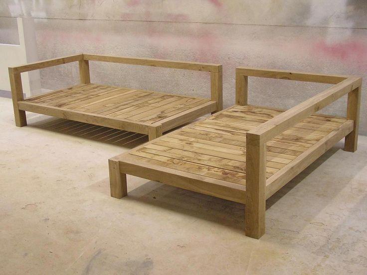Bauen Sie Ihre eigenen Outdoor-Möbel auf – coole rustikale Möbel .
