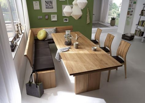 Esszimmer Eiche Weiss in 2020 | Bench seating kitchen table, Bench .
