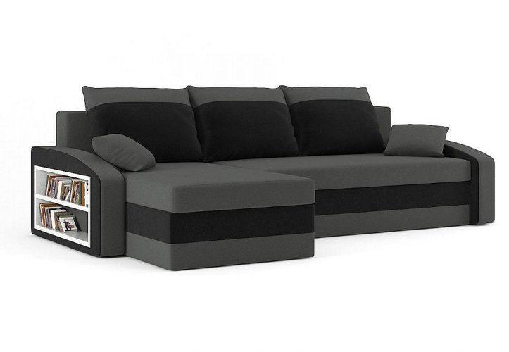 Eckcouch Kippsofa Schlafsofa Sofa Schlafcouch Ecksofa Couch - Grau .