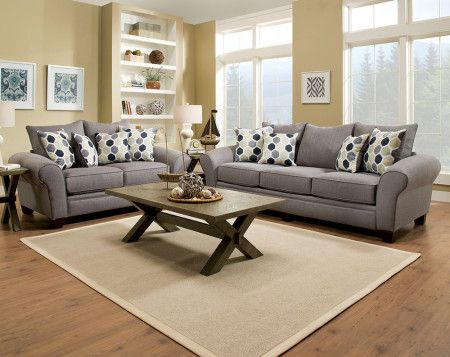 Heritage Gray Sofa & Loveseat | Couch and loveseat, Sofa and .