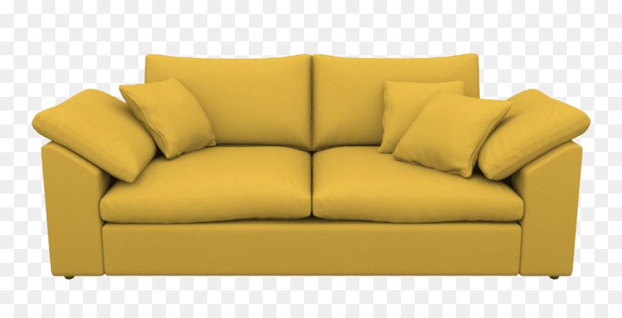 Schlafsofa Loveseat Couch Komfort - gelb sofa png herunterladen .