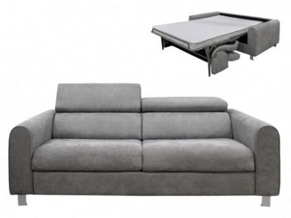 Schlafsofa mit Matratze 3-Sitzer Stoff NESKA - Grau - Kaufen bei .