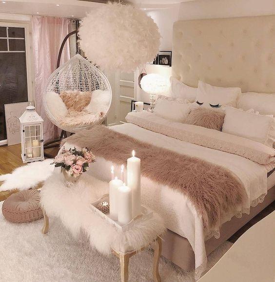 27 Kleine Schlafzimmer Ideen Dekor, um größer aussehen zu lassen .