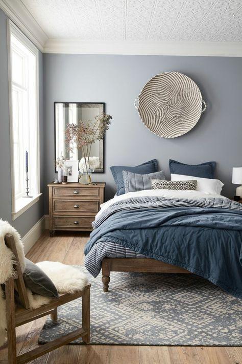 Blaue und graue Schlafzimmer-Farbschemata | Schlafzimmergestaltung .