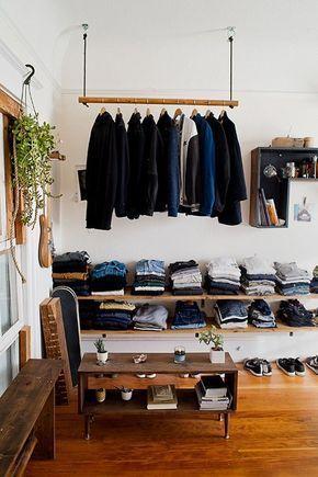 Schlafzimmer ohne Kleiderschrank | Diy kleiderschrank .