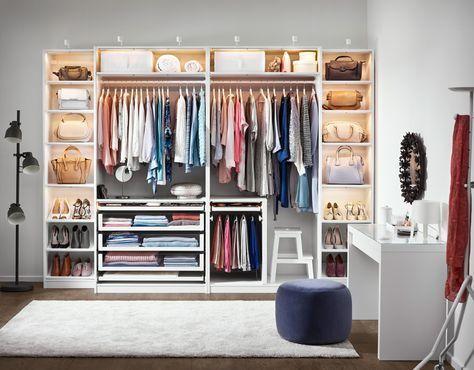 Ordnung im Schlafzimmer und Kleiderschrank mit Ikea | Schrank .