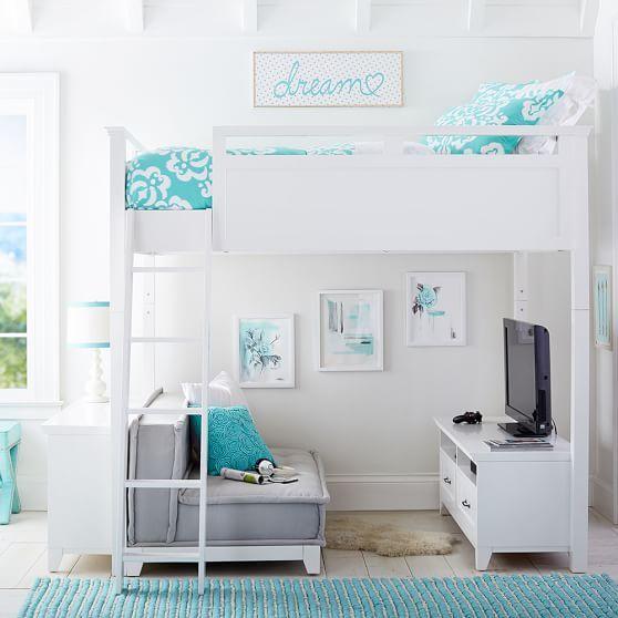 Hampton Convertible Loft Set With Cushy Loveseat | Tumblr zimmer .