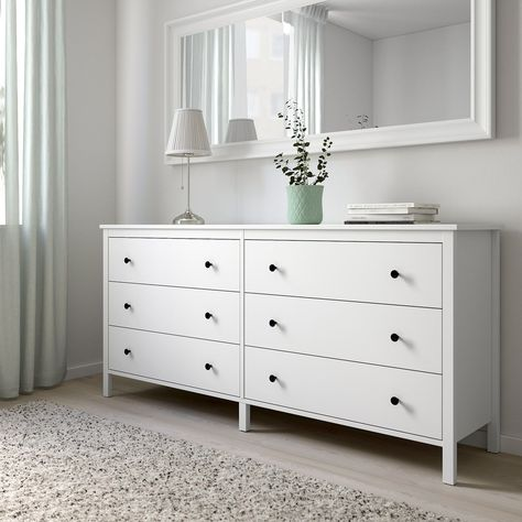 KOPPANG Kommode mit 6 Schubladen - weiß - IKEA austria .
