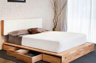 Kopfbrett im Weiß und Schubladen für ein super Bett - Modernes .
