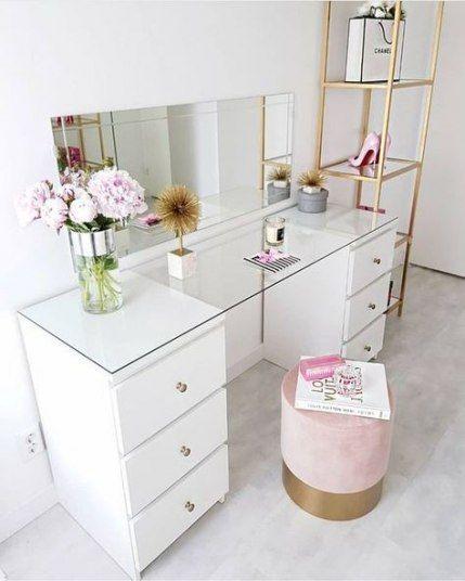 38+ trendige Make-up Organisation DIY Storage Schlafzimmer .