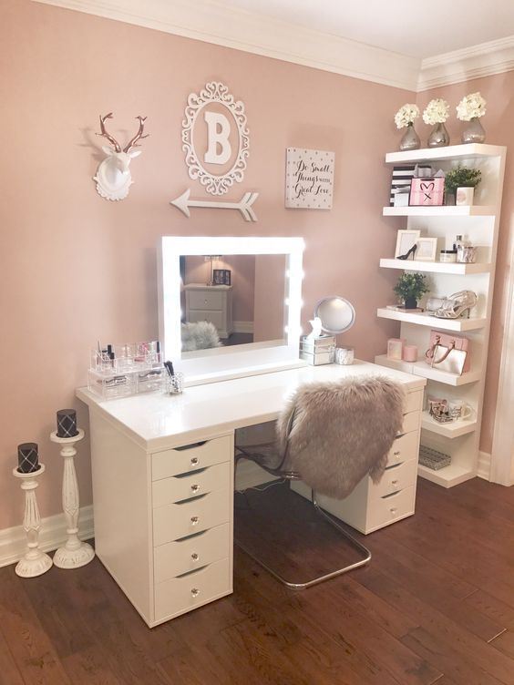 20 beste Make-up-Vanities & Cases für stilvolles Schlafzimmer .