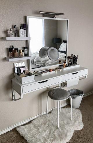 My battle station! : MakeupAddiction #Makeup #Vanity #IKEA   Ideen .