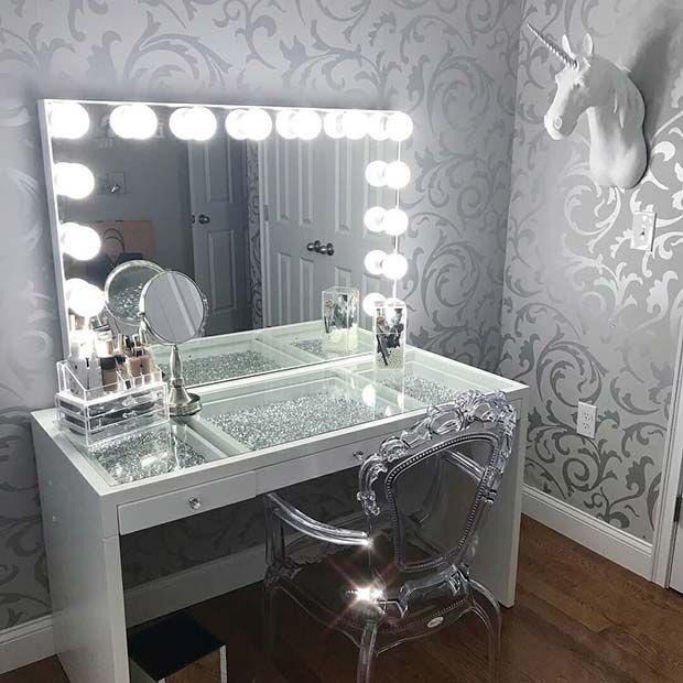 43 Must-Have Makeup Vanity Ideas   Beauty-raum, Einrichtungsideen .