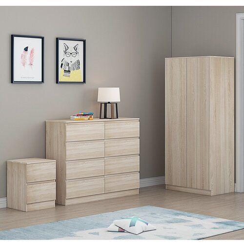 Hashtag Home 4-tlg. Schlafzimmermöbel-Set Manan in 2020 | Oak .