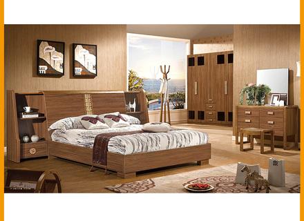 Luxus MDF- Schlafzimmermöbel-Set Kleiderschrank Nacht Stehen .