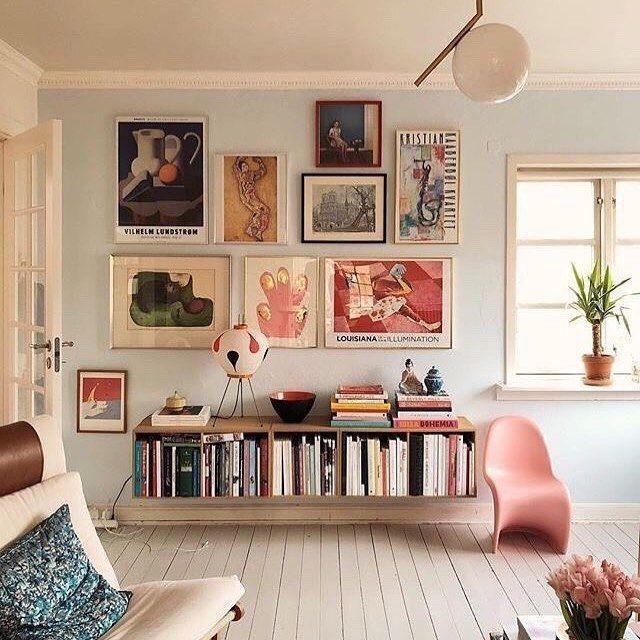 Schmales horizontales Bücherregal - Home Decoraiton - #bucherregal .