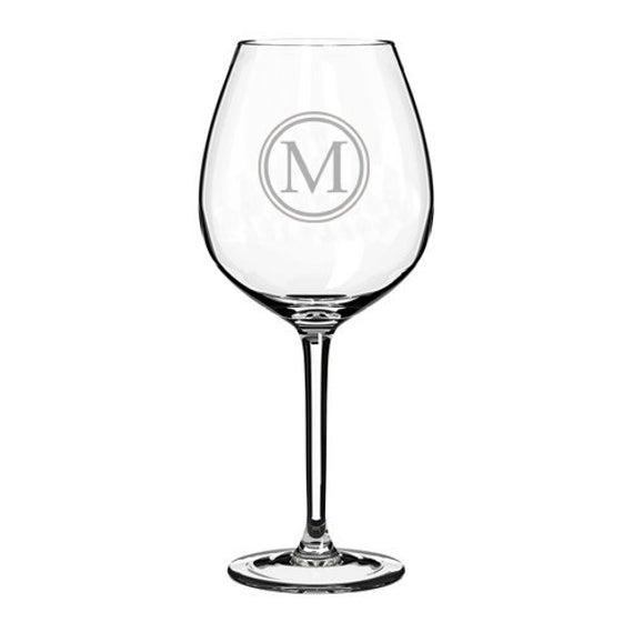 Kreis Monogramm Jumbo 20oz Wein Glasgläser Weiß Rotwein alle | Et