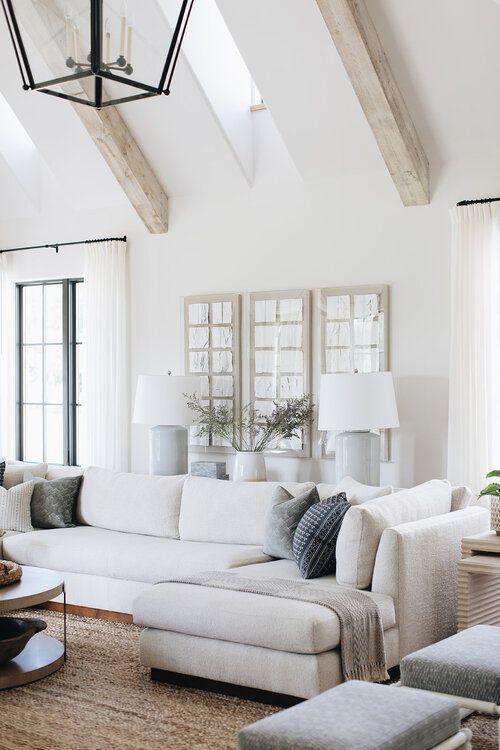 Wohnzimmer Design - geräumiges wohnzimmer design // gewölbedecken .