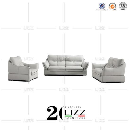 China Miami-Büro-Möbel-echtes Leder-hölzernes Schnittsofa – Kaufen .