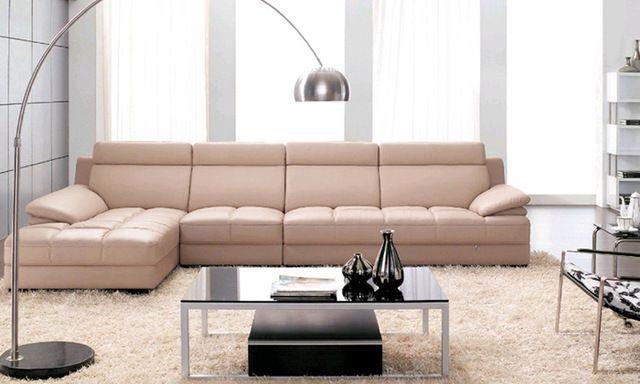 Ideen für Wohnzimmermöbel – Schlafsofa aus Leder | Ledersofa .