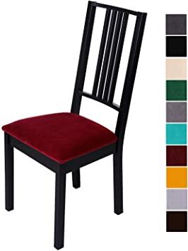 Amazon.de: Homaxy Stuhlbezug Sitzfläche Samt Weich Sitzbezug Stuhl .