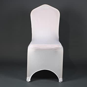 Amazon.de: Moderner, weißer Stuhlüberzug von Awillhome, dehnbarer .