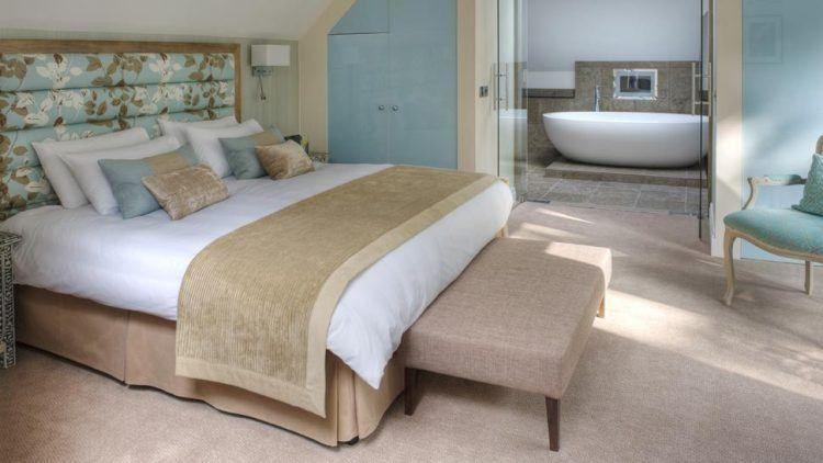 20 schöne Schlafzimmer mit Badezimmer-Designs #Badezimmer #designs .