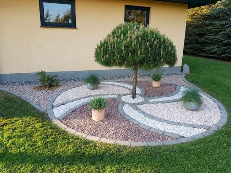 77 Schöne Garten- und Hinterhof-Kies-Garten-Design-Ideen .