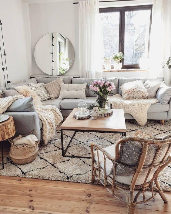 10+ einfache Möglichkeiten, ein geräumiges und schönes Wohnzimmer .