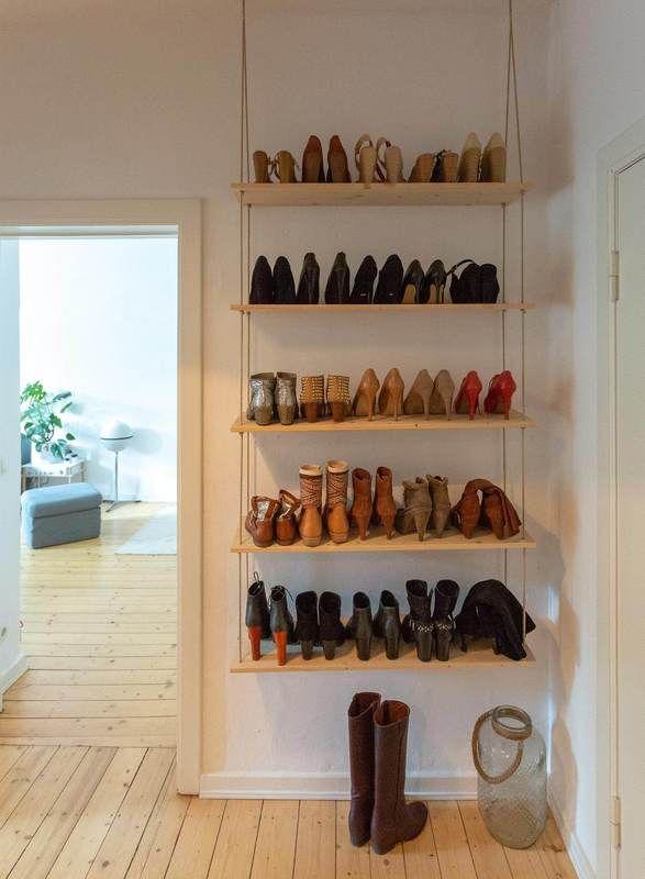 Schuhregal selber bauen » 2 einfache Anleitungen | Schuhregal .