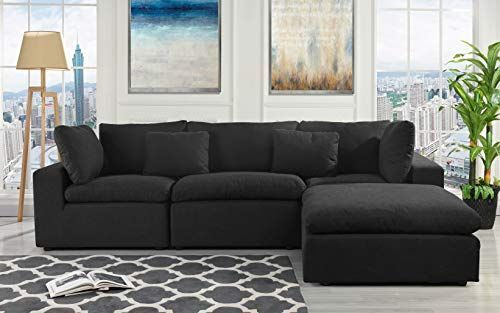 Konfigurierbare Anbausofa-Couch, umwandelbares Anbausofa mit .