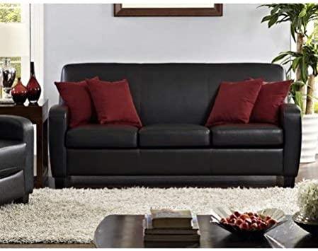 Sofa Sleeper Convertible Couch Loveseat Sessel Futon schwarz Twin .