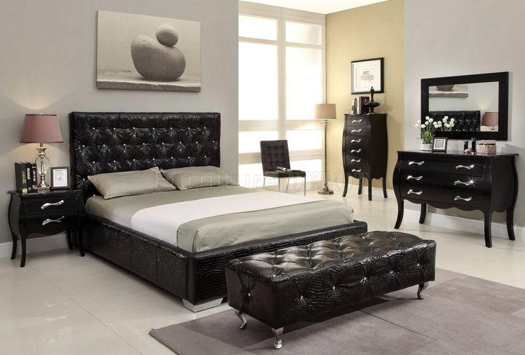 15 kühle schwarze Schlafzimmermöbel-Sets für mutiges Gefühl .