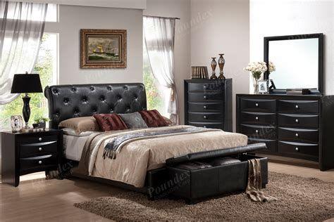 Schwarz King Size Schlafzimmermöbel Sets .
