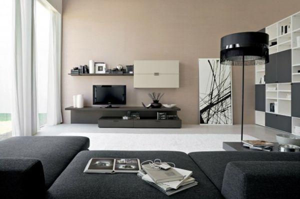 Schwarze Wohnzimmermöbel