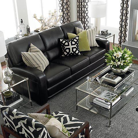 Schwarze Sofas Wohnzimmermöbel #schwarze #sofas #wohnzimmermobel .