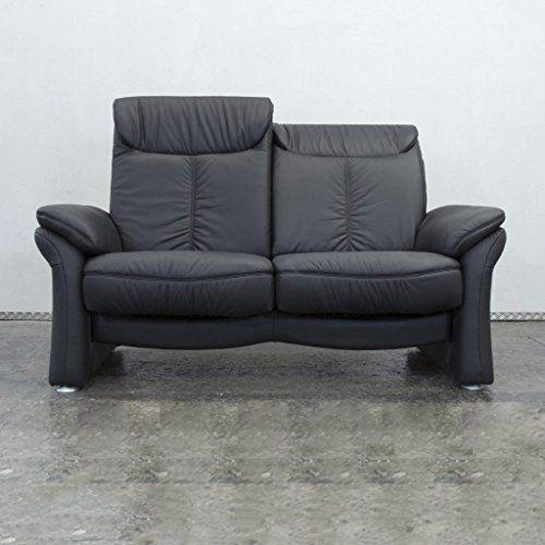 Casada Designer Leder Sofa Schwarz Zweisitzer Couch Funktion .