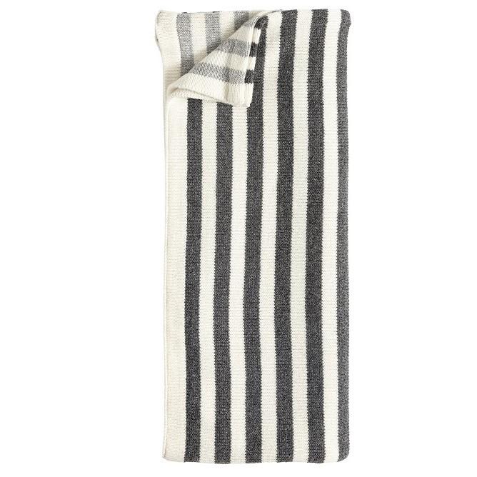 Hübsch Decke schwarz weiß gestreift - greyslab