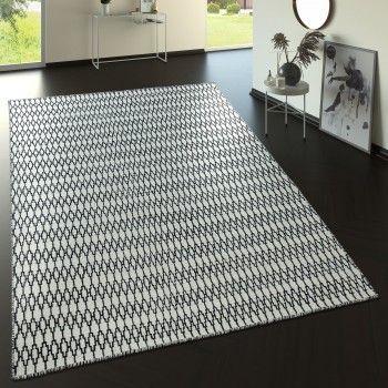 💯 % Handarbeit - Wollteppich im Skandi-Look - Ethno-Muster #grau .
