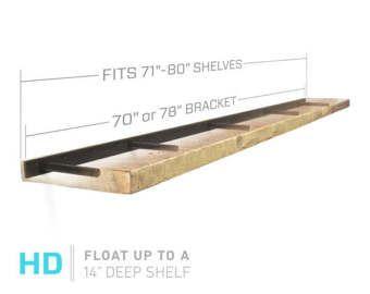 Schwimmende Regal Klammern — Stahl Heavy Duty Brackets von: 10 .