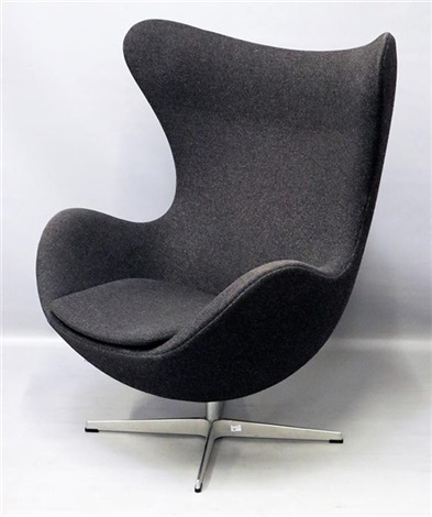 Lounge-Sessel Egg Chair, Modell 3317 by Arne Jacobsen on artn