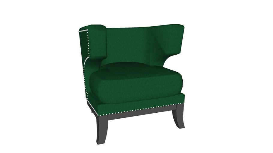 76516 Arm Chair Art Deco Green (Sessel Art Deco Green) | 3D Warehou