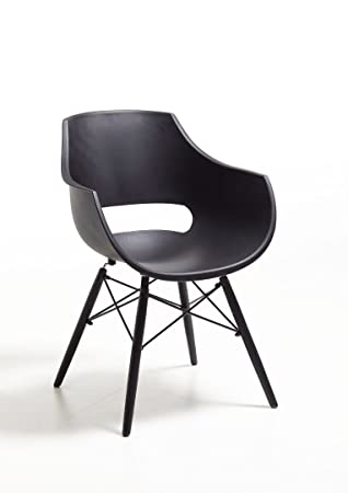 Stuhl Sessel Kunststoff schwarz modern design Besprechungsstuhl .