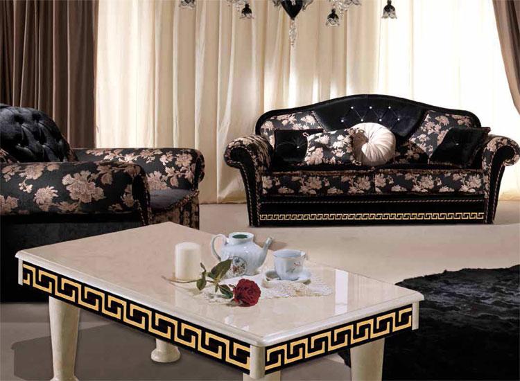 Luxus Sessel Royale Griechische Muster Deco Klassische .